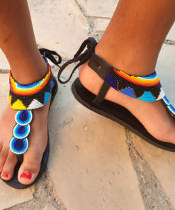 African pearl accessories, African sandal