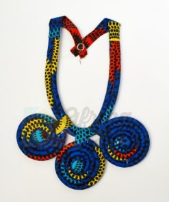 Collar africano tela wax